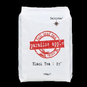 μαύρο τσάι κεϋλάνης op, μήλο, ιβίσκος, σταφίδα, άγριο τριαντάφυλλο, κανέλα, γαρύφαλο, ανανά και βανίλια. 125 gr.