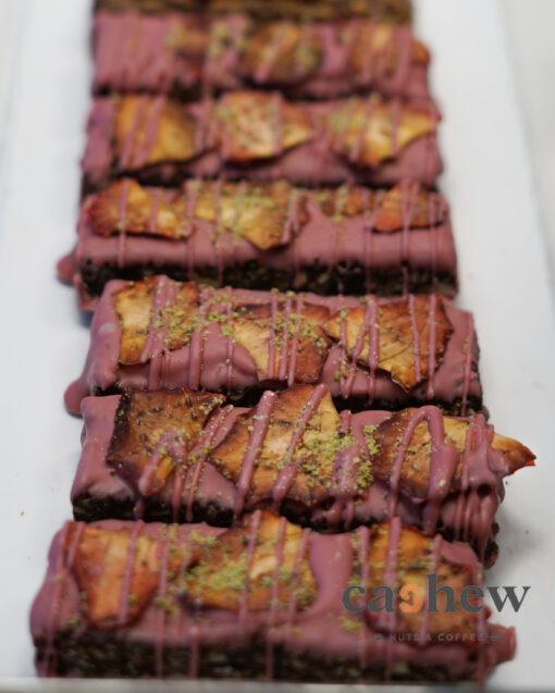 μπάρα ρούμπι αποξηραμένη φράουλα